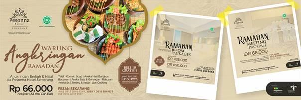 Bukber Berkonsep Angkringan di Pesonna Hotel Semarang
