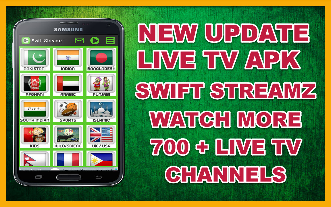 FREE LIVE TV CHANNELS APK FOR ANY ANDROID - SWIFT STREAMZ