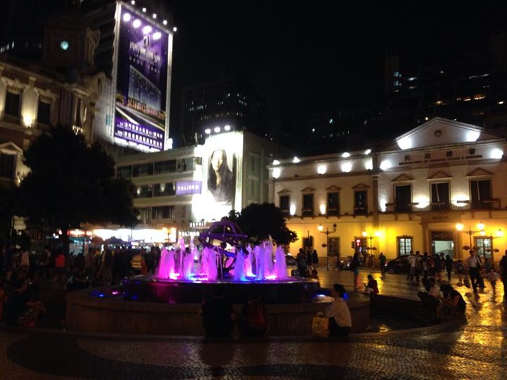 Fountain in Senado Square Macau