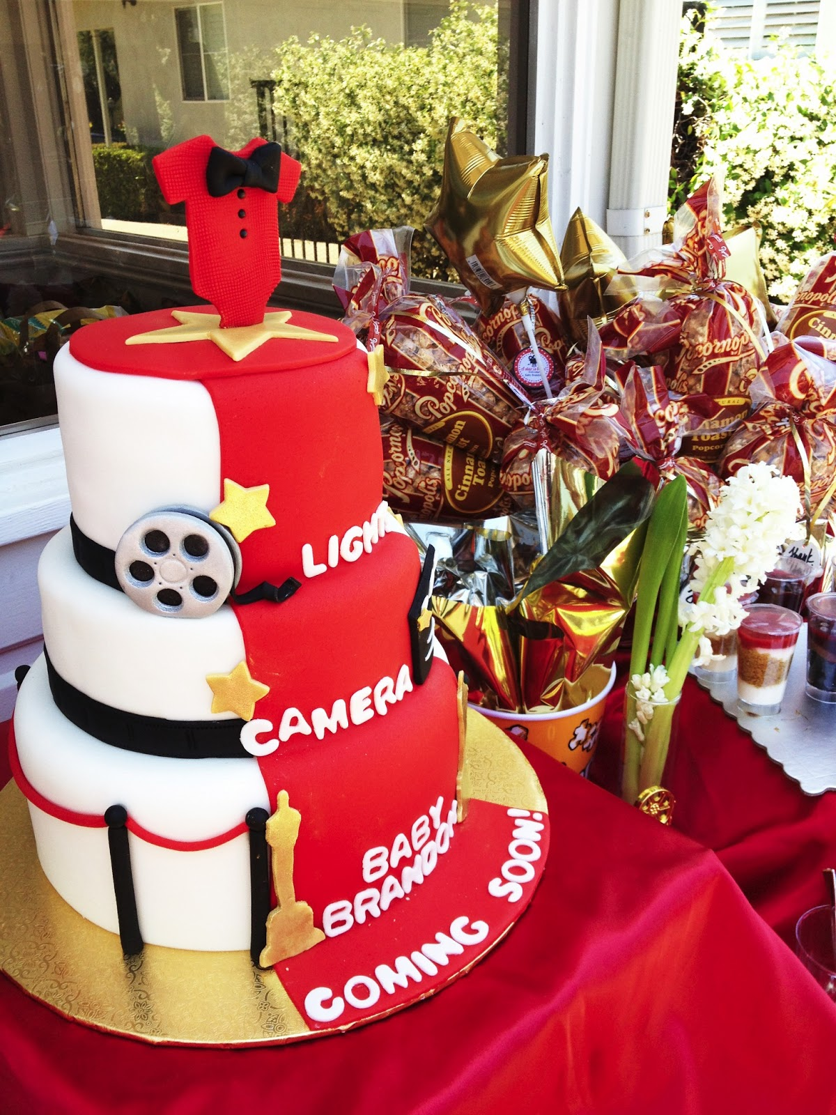 event scenes from a hollywood themed baby shower haute khuuture
