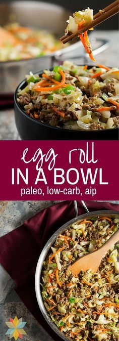 Egg #Roll #in #a #Bowl #- #low #carb, #gluten #free, #AIP #option