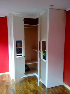 Carpintero fernando g calleja estanter as y armario en - Armarios lacados en blanco ...