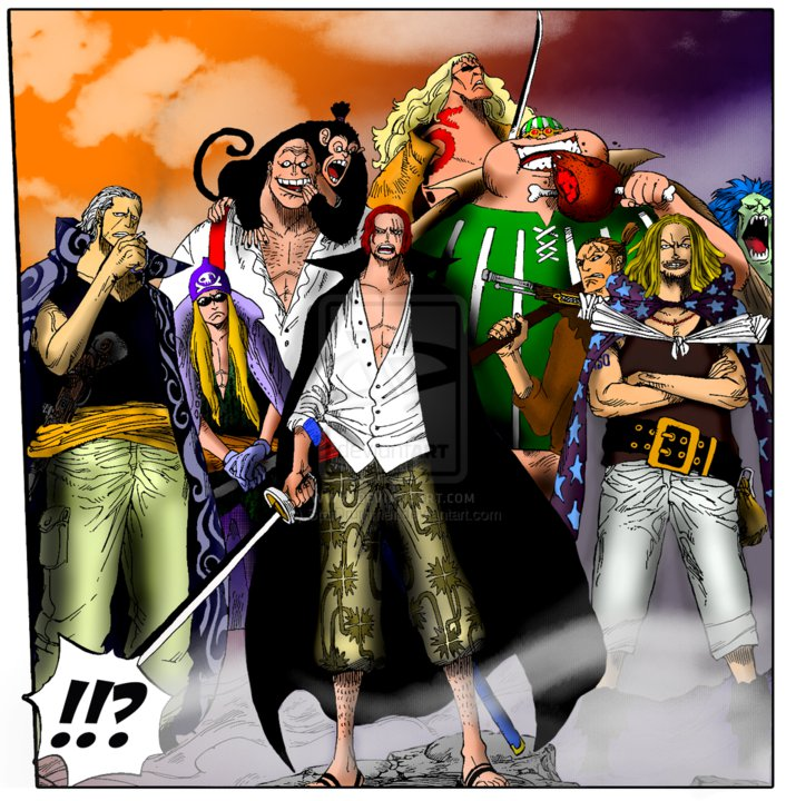 Anime Wallpaper Red Hair Pirates One Piece