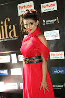 Apoorva in a Stunning Tight Leg Split Sleeveless Red Gown at IIFA Utsavam Awards 51.JPG