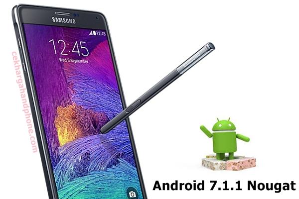 Download dan Instal Android 7.1.1 Nougat Untuk Samsung Galaxy Note 4