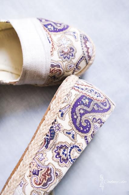 buty paezy z motywem paisley