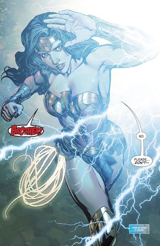 Wonder Woman #31,Story: James Robinson Art: Carlo Pagulayan Inks: Sean Parsons, Jason Paz, Scott Hanna Colors: Romulo Fajardo Jr. Letters: Saida Temofonte Covers: Bryan Hitch, Alex Sinclair, Jenny Frison  Wonder Woman created by William Moulton Marston, H. G. Peter, Elizabeth Holloway Marston, Olive Byrne.