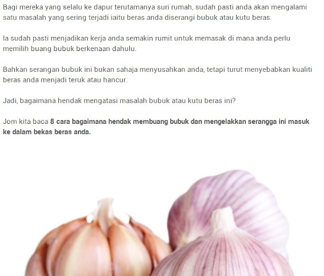 Cara Menghilangkan Bekas Jerawat Dengan Bawang Putih: Sebarkan!! 8 Cara Mudah Hilangkan Bubuk Atau Kutu Beras