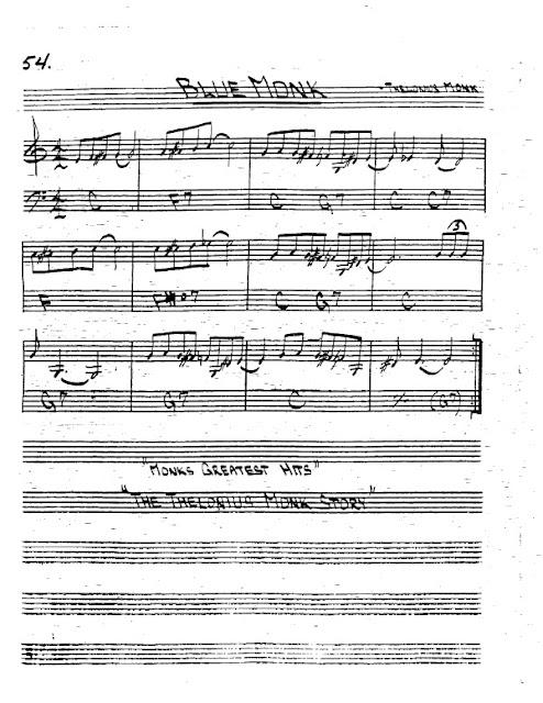 Partitura Trompeta Thelonius Monk