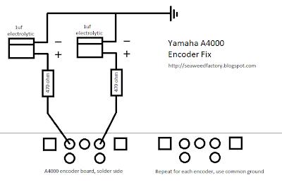Seaweed Factory: Yamaha A4000: Encoder Fix + Adding a