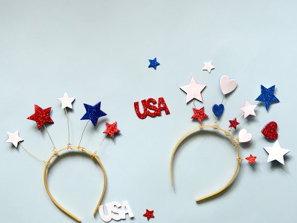 4th of July Star Head Band Tutorial