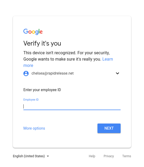 Image result for Add employee ID as a login challenge