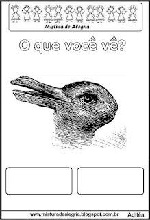 desenho de coelho e pato