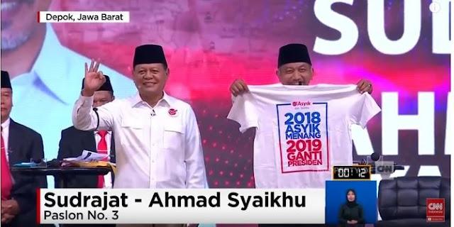 Gerindra: Kaus #2019GantiPresiden di debat Pilgub Jabar bentuk ekspresi