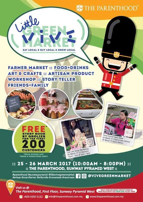 Little Vive Green Market di The Parenthood, Sunway Pyramid.