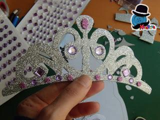 diamantini luccicanti su tiara di Sofia la princepessa