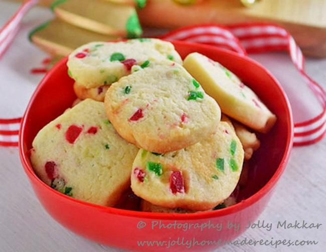 Eggless Tutti Frutti Cookies   Karachi Biscuits Recipe   Fruit Cookies