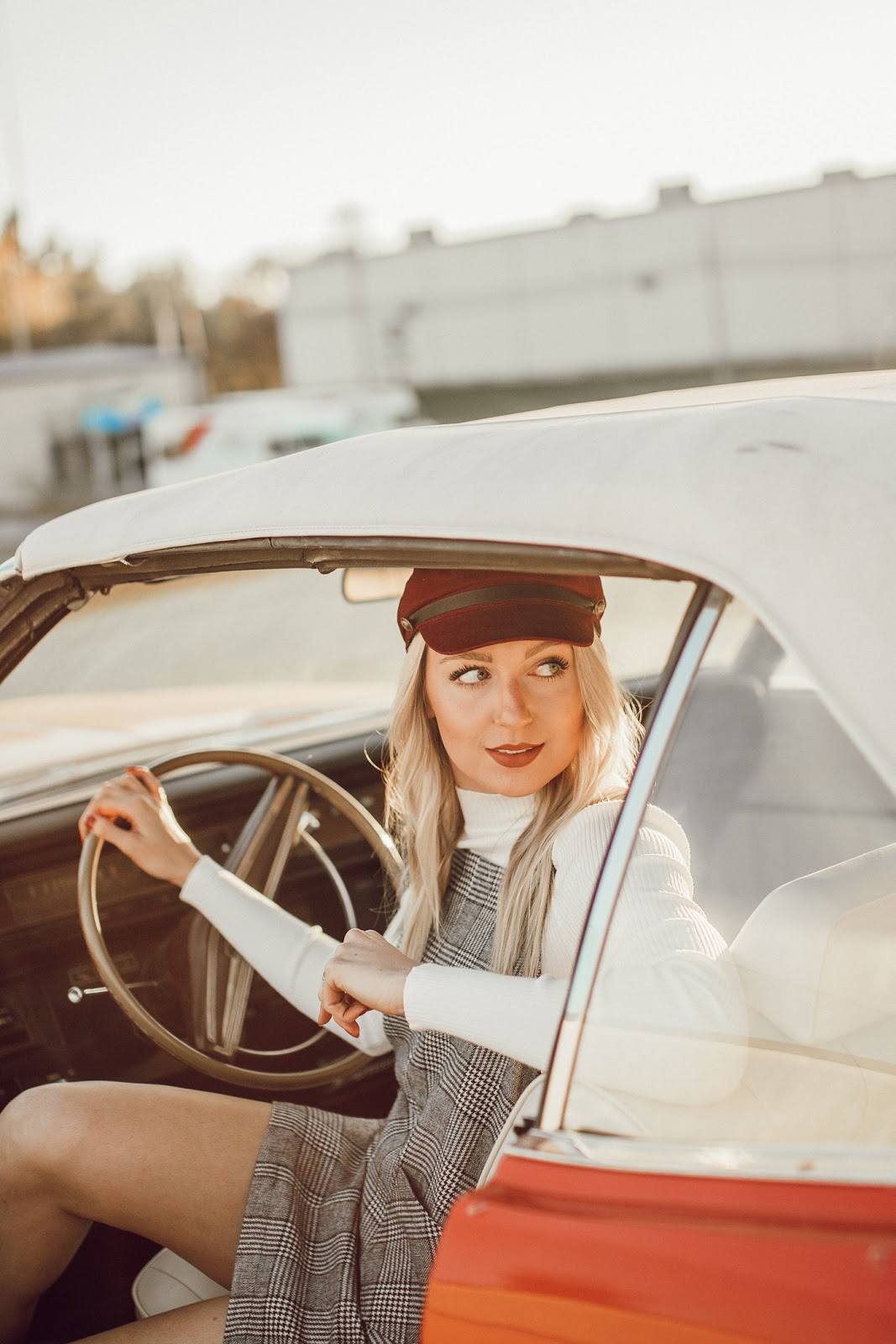 vintage car + fashion