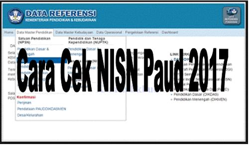 Cara Cek NISN Paud 2017