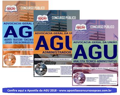 Apostila da AGU (Concurso Advocacia Geral da União 2018)
