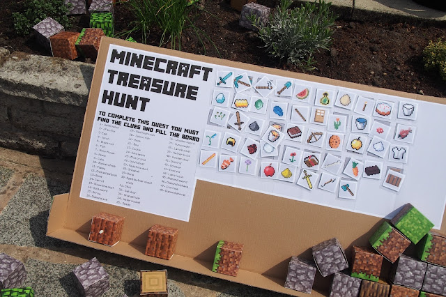 Minecraft Treasure Hunt Party Game with printable template