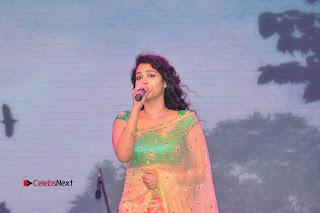 Singer Manisha Eeraini Stills in Half Saree at Nenu Local Audio Launch  0006.JPG