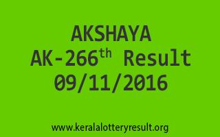 AKSHAYA AK 266 Lottery Results 9-11-2016