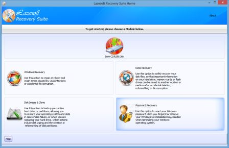 Download Lazesoft Recovery Suite Home