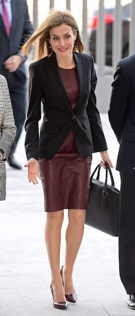 Queen Letizia Style HUGO BOSS Dress, LODI shoes