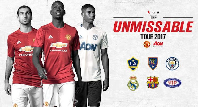 Daftar Pemain Manchester United di Tur Pramusim 2017 Amerika Serikat