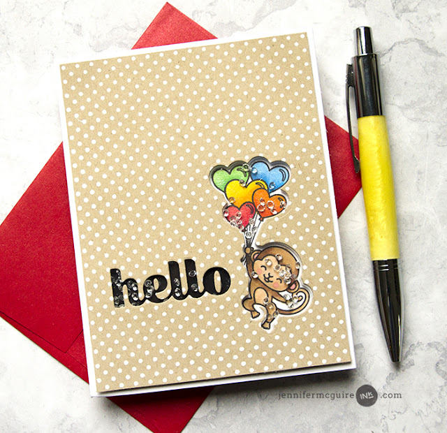 Sunny Studio Stamps: Love Monkey Customer Card Share by Jennifer McGuire