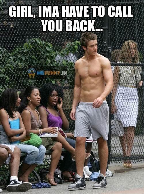 funny handsome guy shirtless black girl