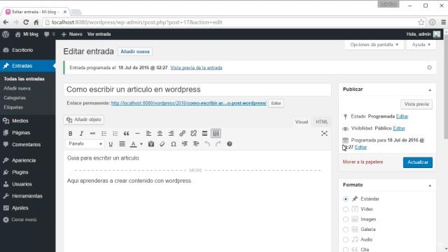 Wordpress: Como crear un sitio web y conseguir trafico curso 2
