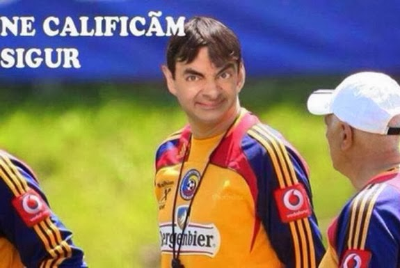 This edited picture of Romania coach Victor Piţurcă got over 13,000 likes on Facebook