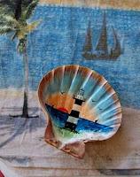 Manualidades : conchas pintadas a mano FARO