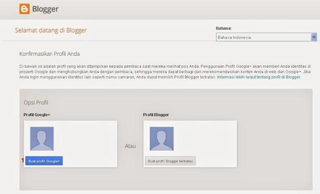 Setting / Pengaturan Profil Google+