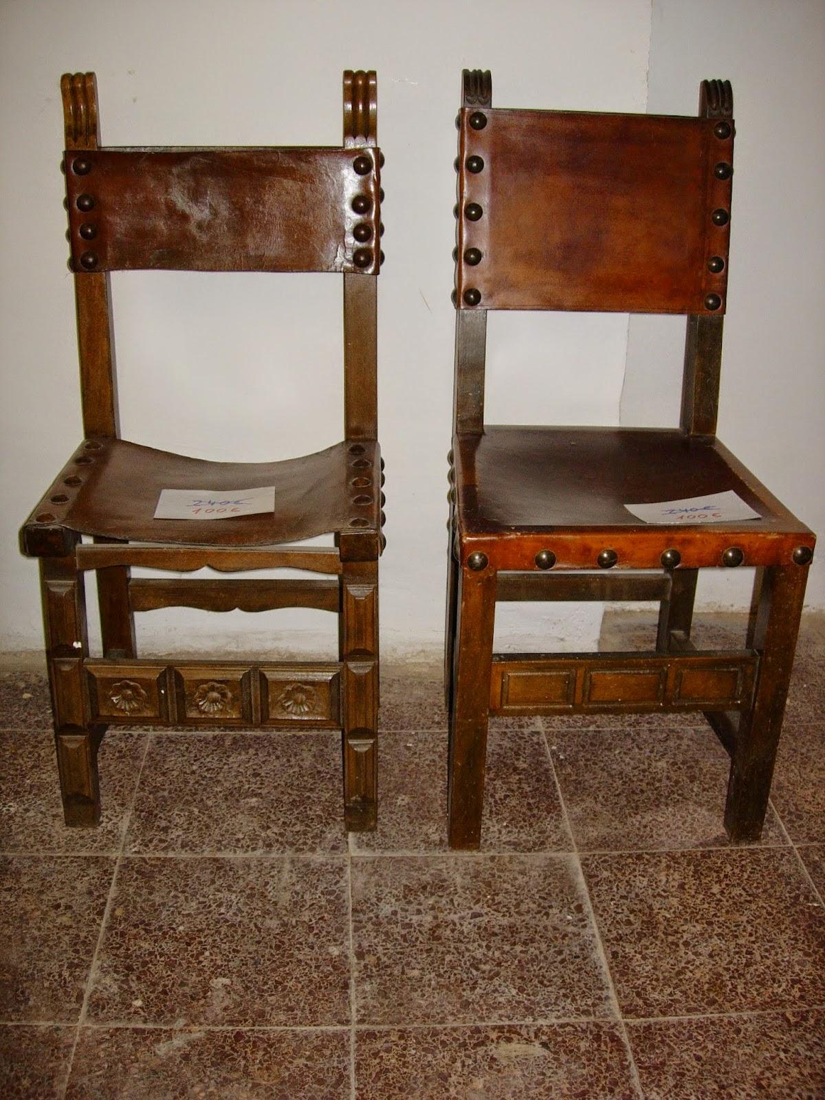 Antig edades fern ndez muebles mesas sillas - Sillas antiguas de madera ...