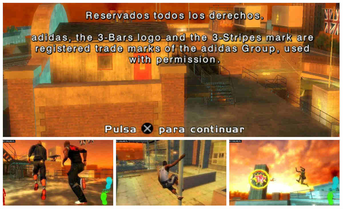 Free Running psp capturas