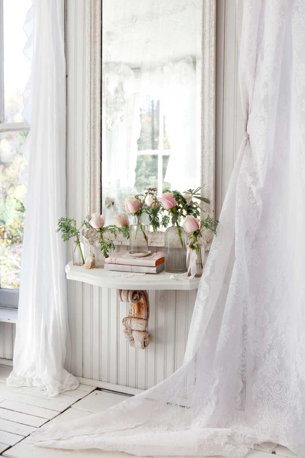Kitchen Design Gallery Shabby Chic Lace Curtains