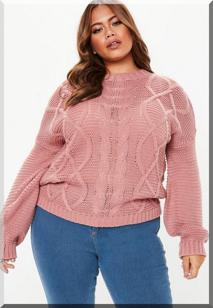 pull-rose-grandes-tailles-missguided