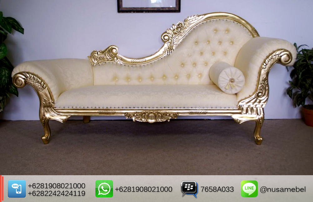 Gold Wedding Sofa Lounge Elhuda with Cream Fabric