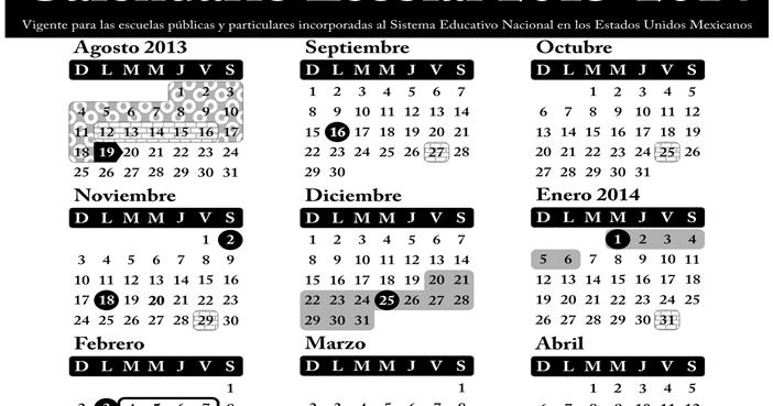 cendisep7: SEP publica el calendario escolar 2013-2014