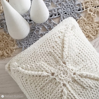 Asanas Pillow -- free crochet pattern by Felted Button