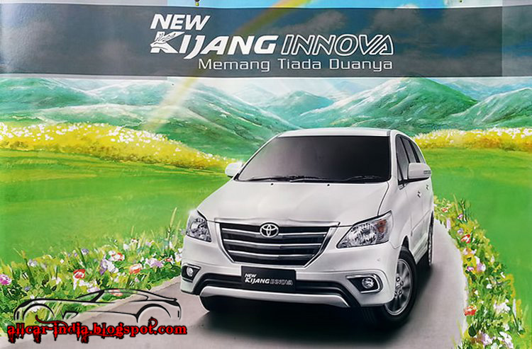 all new kijang innova 2013 body kit yaris trd automotive craze toyota facelift spotted in indonesia the has been selling india for more than 7 years now and company wants to keep car competitive some