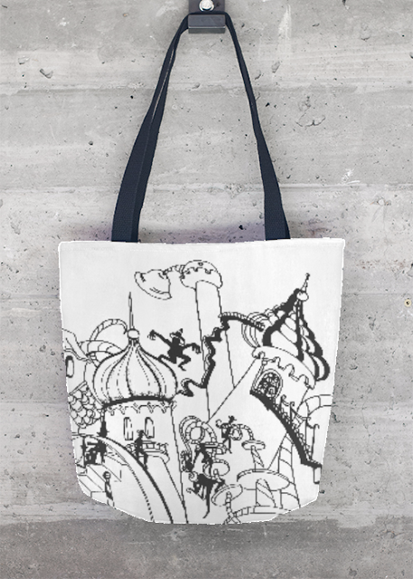 VIDA Tote Bag - BlasChicInc PATRIOT ROSE by VIDA o8BjDLEsp