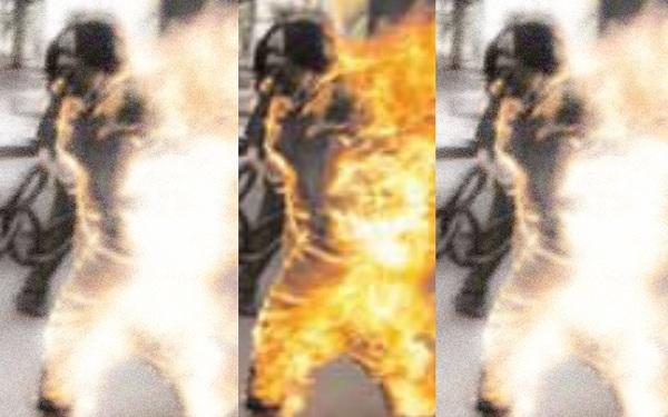wanita dibakar hidup hidup gara gara kahwin dengan kekasih