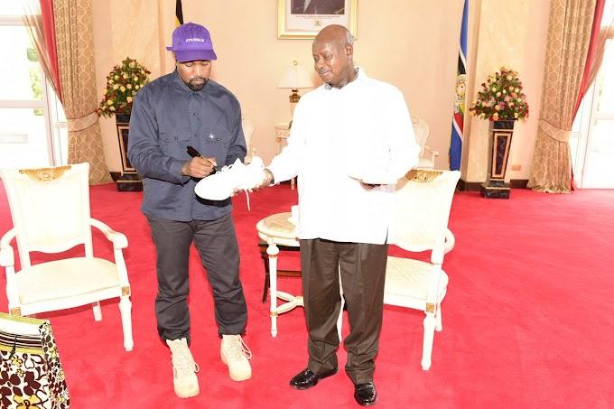 Kanye West meets Uganda's President Museveni