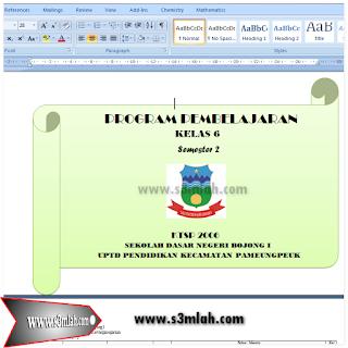 Program Semester (Promes) Kelas 6 Semester 2