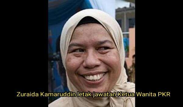 Zuraida Kamaruddin letak jawatan Ketua Wanita PKR