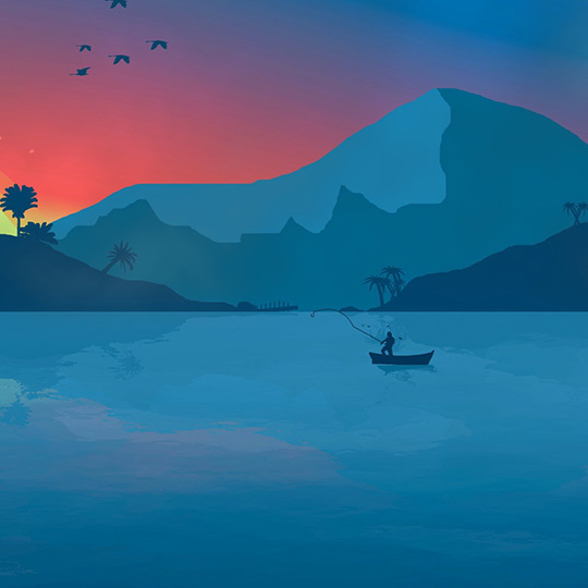 Sunset Lake Wallpaper Engine